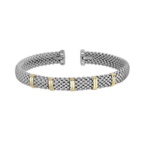 Sterling and 18k Bracelet