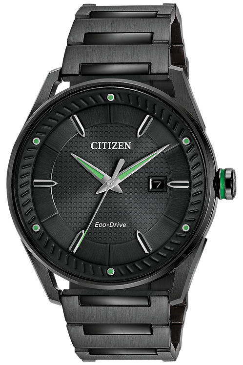 Gents Black Eco-Drive Drive Watch