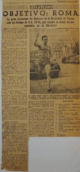 Miquel Navarro consiguiendo la marca para ir a Roma 1960