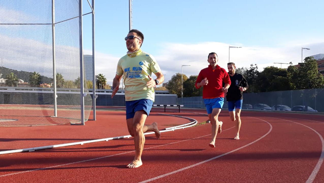 Correr descalzo coordinados