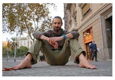 Jordi Vizcaíno «Voy descalzo a todo; a todo quiere decir hasta a las bodas»