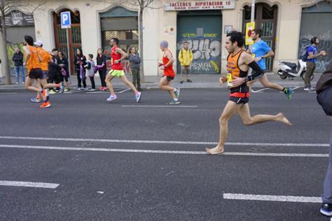 Nou récord d'Europa de Marató descalç!