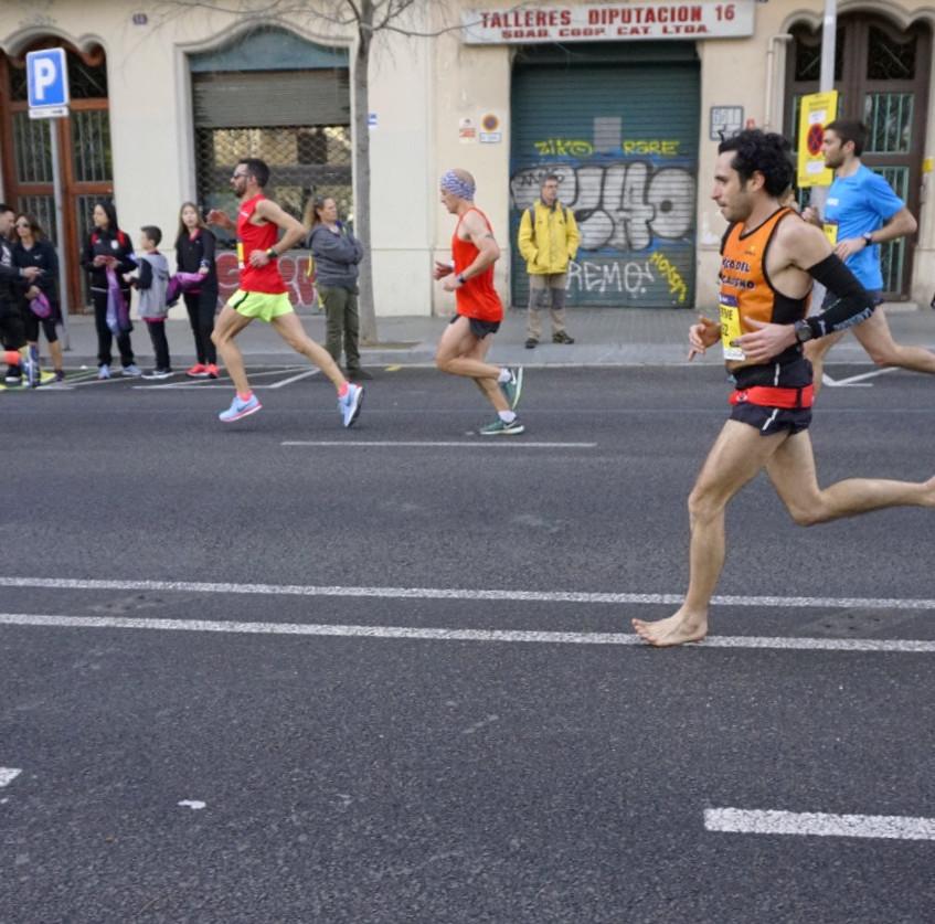 Esteve barefoot marathon