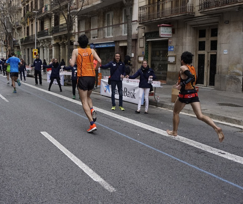 Barefoot running technique