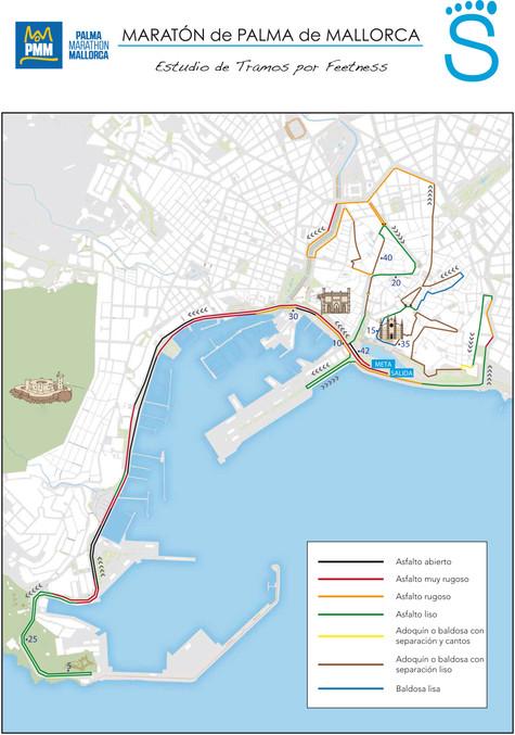 Asfalto de la Maratón de Palma