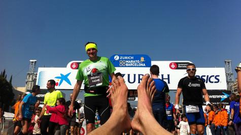 Mi primera Maratón descalzo