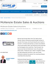 Score Magazine Article about McKenzie Estate Sales & Auctions