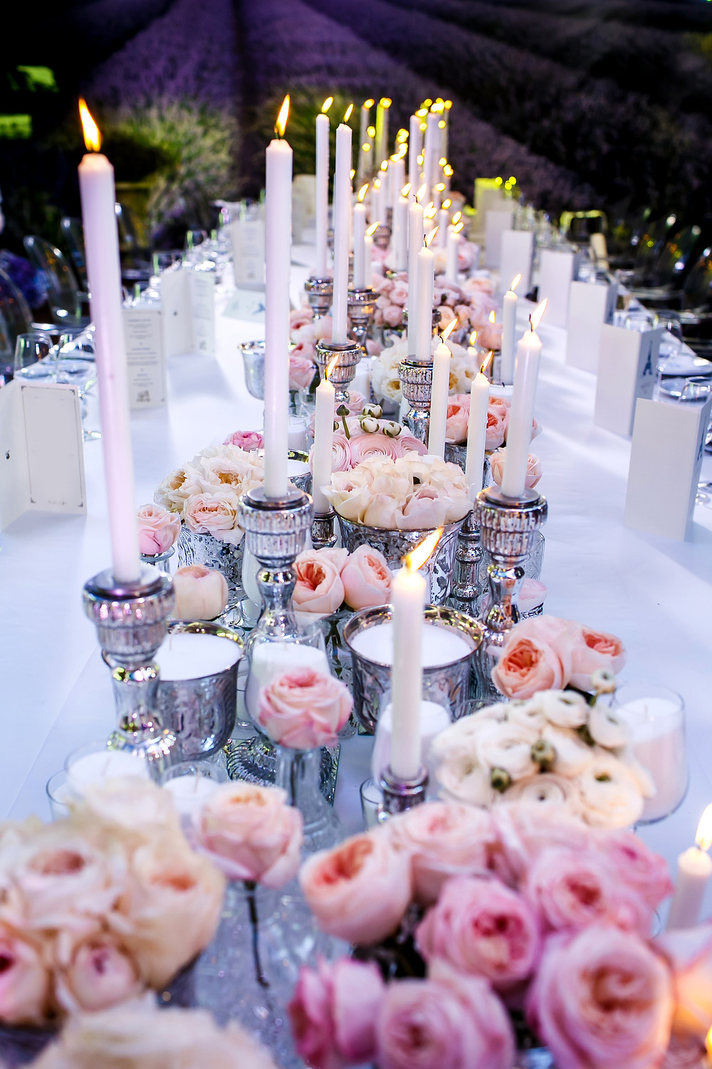 candle table centrepieces
