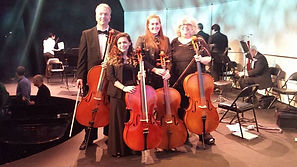 Our cello section at Siena Chamber Orche
