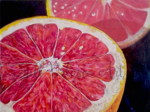 "Grapefruit Artist Print 10x8"""