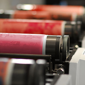 Printing plates and rollers for a flexographic press