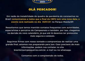 Final do Campeonato Brasileiro em Pesqueiros transferida para janeiro de 2021