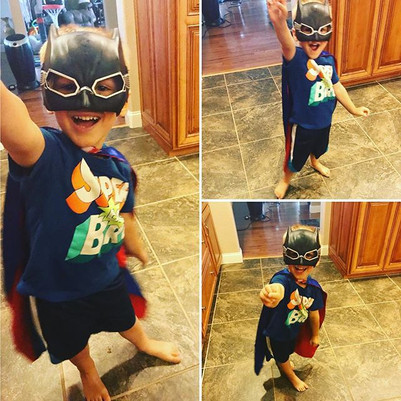 Our little superhero on superhero day at