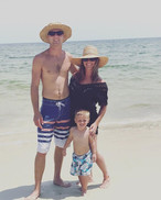 Family photo on the beach!! Love my two