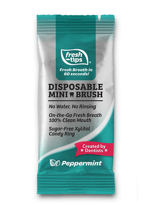10 Pack Disposable Toothbrush Peppermint