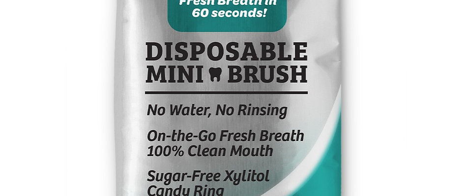 50 Pack Disposable Toothbrush Peppermint