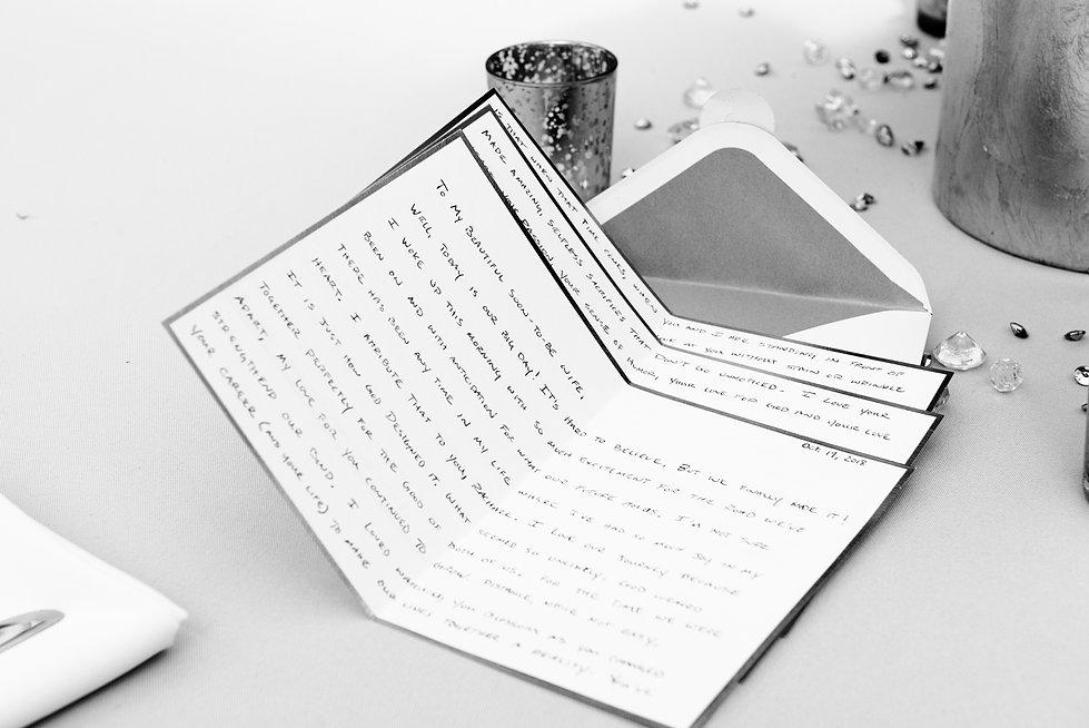 Romantic Wedding day letter