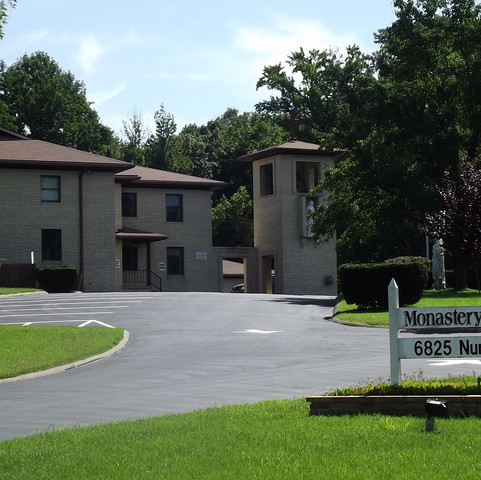 The outside of the current monastary in Evansville.