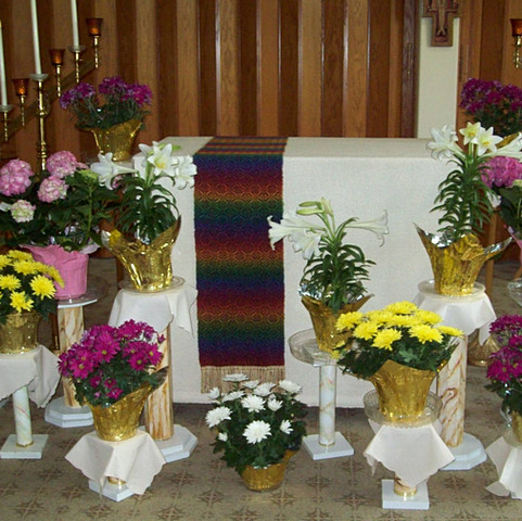 Altar Cloth made by the sisters