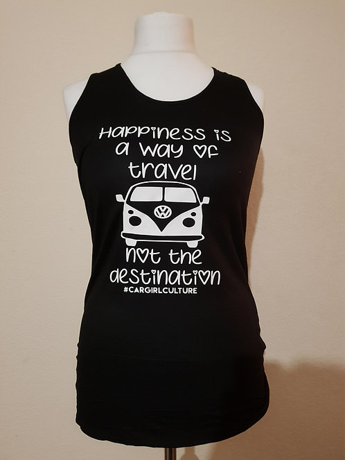 Happiness is a way of travel vest