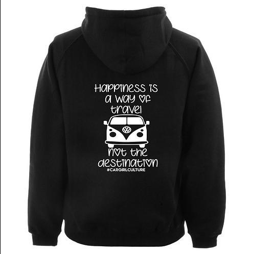 Happiness is a way of travel kids hoodie