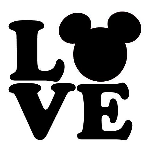 Love disney sticker