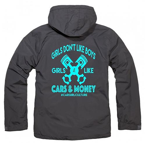 Girls don't like boys fleece lined coat