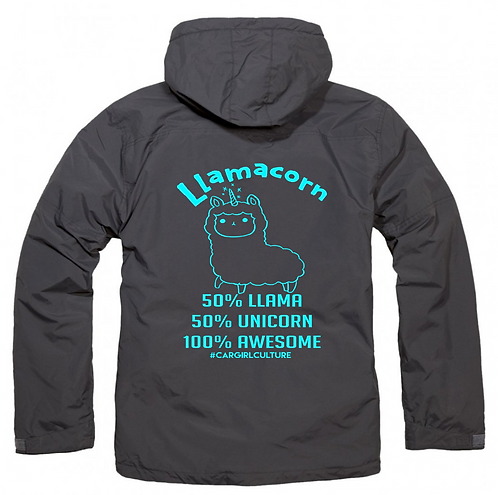Llamacorn fleece lined coat