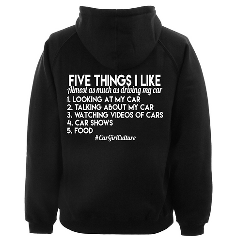 Five things I like hoodie