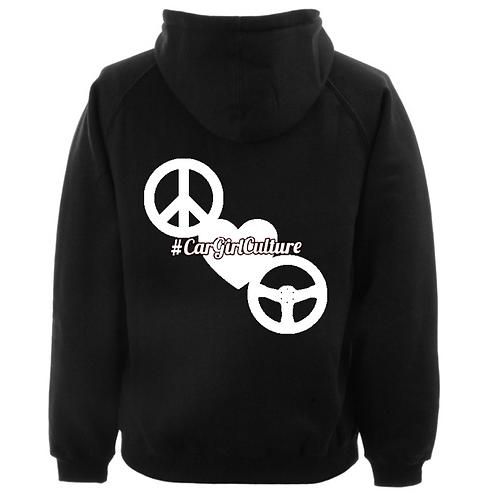 peace love drive hoodie
