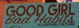 Good girl, bad habits sticker