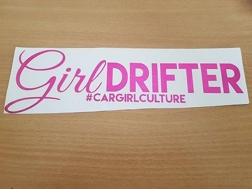 Girl drifter sticker