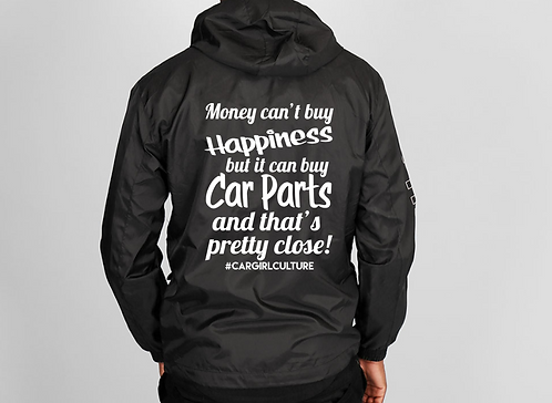 Money can't buy happiness windbreaker
