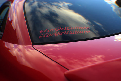 #CarGirlCulture (PAIR) sticker
