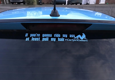 If you're gonna ride my ass... sticker