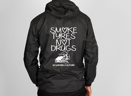 Smoke tyres not drugs windbreaker