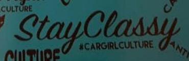 Stay classy sticker