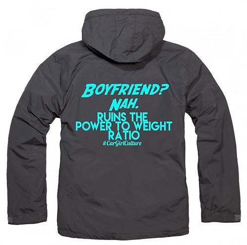 Boyfriend? Nah fleece lined coat