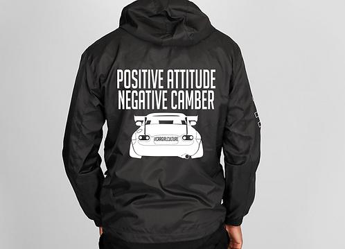 Positive attitude, negative camber windbreaker