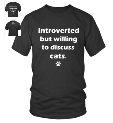 Introvert cat Tshirt