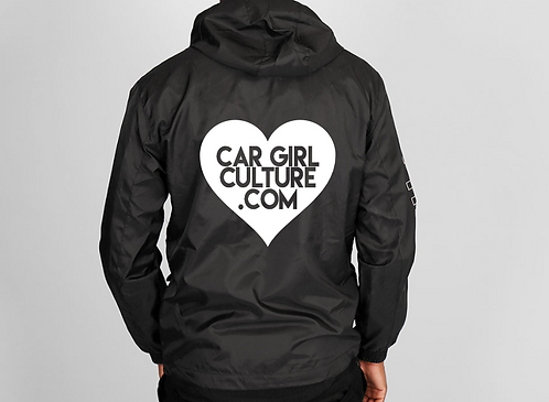 Heart logo windbreaker