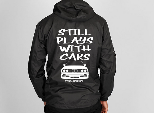 Still plays with cars windbreaker