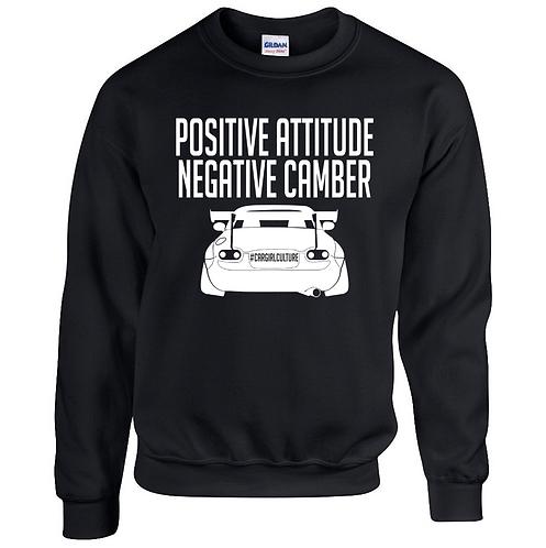 Positive attitude, negative camber jumper