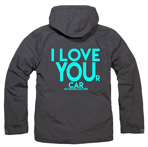 I LOVE YOU(r car) fleece lined coat