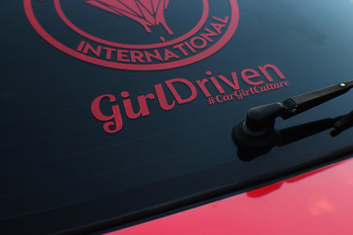 Girl Driven sticker