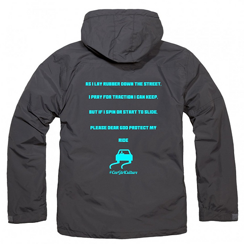 Protect my ride fleece lined coat