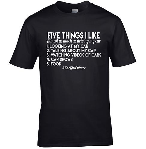 Five things I like Tshirt