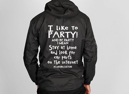 I like to party windbreaker