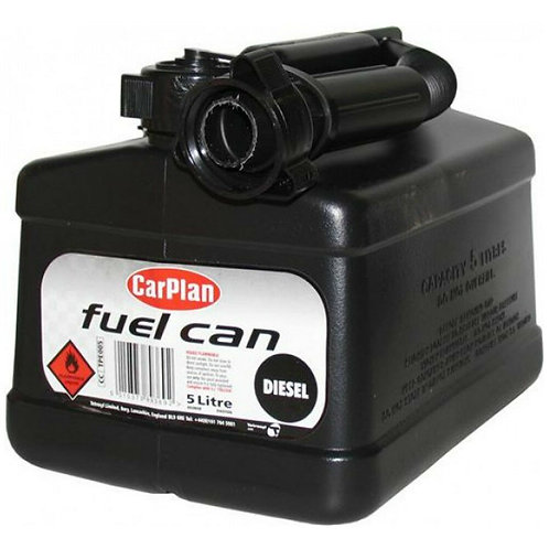 Carplan Tetracan Black Diesel Fuel Jerry Can 5L