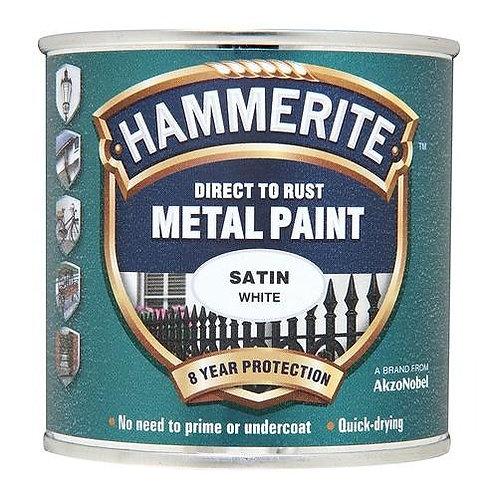 Hammerite Satin White brush paint 250ml